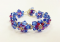 Crystal Flower Bracelet Kit with SWAROVSKI - Indicolite/Met Blue2x